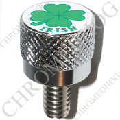 Harley Custom Seat Bolt - S KN Chrome Billet - Clover Irish W