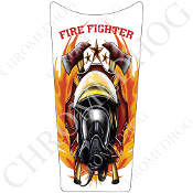 89-07 Road & Electra Glide Dash Insert Decal - FireFighter FW